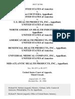 United States v. John Cocivera, United States of America v. U.S. Health Products, Inc., United States of America v. North American Health Industries, Inc., United States of America v. American Health Products, Inc., United States of America v. Beneficial Health Products, Inc., United States of America v. Universal Medical Company, Inc., United States of America v. Mid-Atlantic Health Products, Inc., 104 F.3d 566, 3rd Cir. (1996)