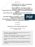 """Kukje Hwajae Insurance Co., Ltd., a Corporation, Plaintiff-Appellant/cross-Appellee v. The """"M/v Hyundai Liberty,"""" Her Engines, Boilers, Tackle, Etc., in Rem, Defendant-Appellee/cross-Appellant, and Glory Express, Inc., a Business Entity, in Personam, Glory Express, Inc., a California Corporation, Third-Party v. Streamline Shippers Association, a California Corporation, Third-Party and Hyundai Merchant Marine Co., Ltd., a Business Entity, Does 1-10 Inclusive, Third-Party, 294 F.3d 1171, 3rd Cir. (2002)"""
