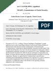 Thomas F. Sanfilippo v. Jo Anne B. Barnhart, Commissioner of Social Security, 325 F.3d 391, 3rd Cir. (2003)