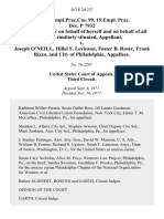 16 Fair empl.prac.cas. 99, 15 Empl. Prac. Dec. P 7932 Penelope Brace on Behalf of Herself and on Behalf of All Others Similarly Situated v. Joseph O'neill, Hillel S. Levinson, Foster B. Roser, Frank Rizzo, and City of Philadelphia, 567 F.2d 237, 3rd Cir. (1977)
