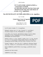Non-Resident Taxpayers Association, a Corporation on Behalf of Itself, Its Members and Other Persons Who Have Been and Will Be Similarly Situated in the Same Class and Classes of Persons v. The Municipality of Philadelphia, 478 F.2d 456, 3rd Cir. (1973)