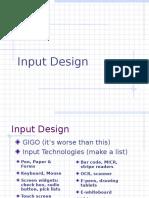9 Input Design Phase