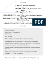 Roy Melancon v. Western Auto Supply Co., Defendants-Third Party Plaintiffs-Appellees-Appellants v. M.T.D. Products, Third Party Defendants-Appellees-Appellants. Briggs & Stratton, Third Party Defendant-Fourth Party v. Lillian D. Melancon, Fourth Party, 628 F.2d 395, 3rd Cir. (1980)
