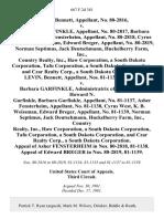 Levin, Bennett, No. 80-2816 v. Howard N. Garfinkle, No. 80-2817, Barbara Garfinkle, Asher Fensterheim, No. 80-2818, Cyrus West, K. B. Weissman, Edward Breger, No. 80-2819, Norman Septimus, Jack Deutschmann, Huckelberry Farm, Inc., Country Realty, Inc., Haw Corporation, a South Dakota Corporation, Tafu Corporation, a South Dakota Corporation, and Czar Realty Corp., a South Dakota Corporation. Levin, Bennett, Nos. 81-1134, 81-1135 v. Barbara Garfinkle, Administratrix of the Estate of Howard N. Garfinkle, Barbara Garfinkle, No. 81-1137, Asher Fensterheim, No. 81-1138, Cyrus West, K. B. Weissman, Edward Breger, No. 81-1139, Norman Septimus, Jack Deutschmann, Huckelberry Farm, Inc., Country Realty, Inc., Haw Corporation, a South Dakota Corporation, Tafu Corporation, a South Dakota Corporation, and Czar Realty Corp., a South Dakota Corporation. Appeal of Asher Fensterheim in Nos. 80-2818, 81-1138. Appeal of Edward Breger in Nos. 80-2819, 81-1139, 667 F.2d 381, 3rd Cir. (1981)