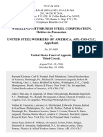 Wheeling-Pittsburgh Steel Corporation, Debtor-In-Possession v. United Steelworkers of America, Afl-Cio-Clc, 791 F.2d 1074, 3rd Cir. (1986)