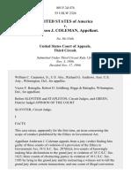 United States v. Anderson J. Coleman, 805 F.2d 474, 3rd Cir. (1986)