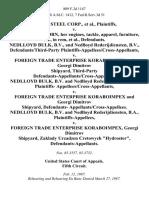 "Bayou Steel Corp. v. M/v Amstelvoorn, Her Engines, Tackle, Apparel, Furniture, Etc., in Rem, Nedlloyd Bulk, B v.  and Nedlloyd Rederijdiensten, B v.  Defendants/third-Party Plaintiffs-Appellees/cross-Appellants v. Foreign Trade Enterprise Koraboimpex and Georgi Dimitrov Shipyard, Third-Party Defendants-Appellants/cross-Appellees. Nedlloyd Bulk, B v. And Nedlloyd Rederijdiensten, B v.  Plaintiffs- Appellees/cross-Appellants v. Foreign Trade Enterprise Koraboimpex and Georgi Dimitrov Shipyard, Defendants- Appellants/cross-Appellees. Nedlloyd Bulk, B v. And Nedlloyd Rederijdiensten, B.A. v. Foreign Trade Enterprise Koraboimpex, Georgi Dimitrov Shipyard, Zaklady Urzadzen Cretowych ""Hydroster"", 809 F.2d 1147, 3rd Cir. (1987)"