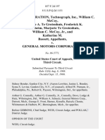 Devex Corporation, Technograph, Inc., William C. McCoy Theodore A. Te Grotenhuis, Frederick K. Ziesenheim, Marjorie Te Grotenhuis, William C. McCoy Jr., and Katherine M. Bassett v. General Motors Corporation, 857 F.2d 197, 3rd Cir. (1988)