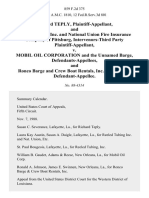 Richard Teply, and Reeled Tubing, Inc. And National Union Fire Insurance Company of Pittsburg, Intervenors-Third Party v. Mobil Oil Corporation and the Unnamed Barge, and Ronco Barge and Crew Boat Rentals, Inc., Third Party, 859 F.2d 375, 3rd Cir. (1988)