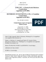 Dura Systems, Inc., a Pennsylvania Business Corporation, in 89-3005 v. Rothbury Investments, Ltd., a Canadian Corporation, in 89-3023, 886 F.2d 551, 3rd Cir. (1989)