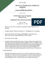 Nationwide Mutual Insurance Company v. Anne Marie Budd-Baldwin, 947 F.2d 1098, 3rd Cir. (1991)