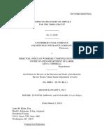 Canterbury Coal Co v. Director Owcp, 3rd Cir. (2012)
