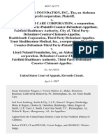 Lloyd Noland Foundation, Inc., The, an Alabama Nonprofit Corporation v. Tenet Health Care Corporation, a Corporation, Defendant-Third Party-Plaintiff-Counter-Defendant-Appellant, Fairfield Healthcare Authority, City Of, Third Party-Defendant-Counter-Claimant-Appellee, Healthsouth Corporation, Third Party-Defendant-Appellee. Tenet Healthsystem Medical, Inc., a Corporation, Plaintiff-Counter-Defendant-Third Party-Plaintiff-Appellant v. Lloyd Noland Foundation, Inc., an Alabama Nonprofit Corporation, Defendant-Counter-Claimant, Fairfield Healthcare Authority, Third Party-Defendant-Counter-Claimant-Appellee, 483 F.3d 773, 3rd Cir. (2007)