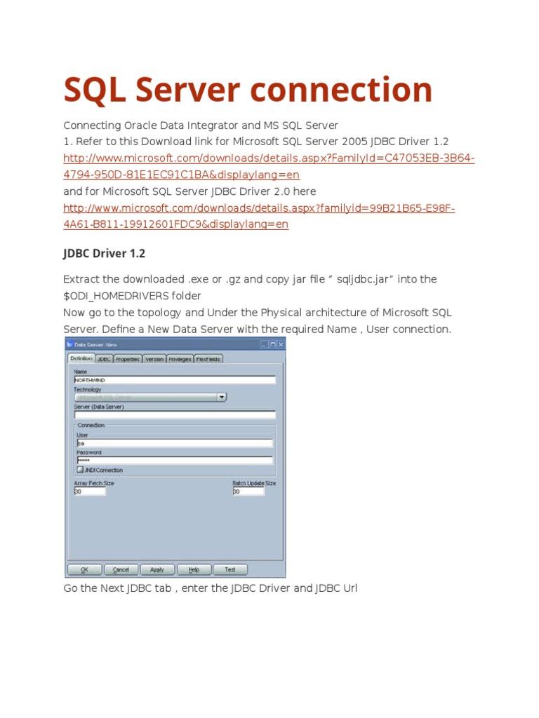 Sql server 2005 express jdbc driver.
