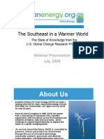 The Southeast in a Warmer World, Impacts and Opportunities