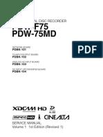 PDW-F75 Service Manual Vol 1.pdf