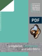 Gestion Centros Historicos 2011