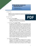 Philippine Deposit Insurance Corporation Act