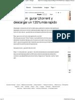 Como Configurar Utorrent Para 135% Un Rapido