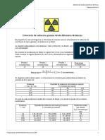 Detección de Radiación Gamma a Distintas distancias