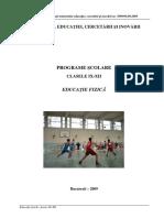 Educatie Fizica_clasele a IX-A - A XII-A