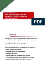 Panorama Des Etudes Marketing