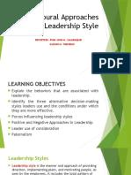 Behaviors of Leadership