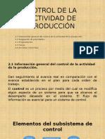 Cotrol de La Actividad de Producción u2