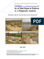 Productivity of Mini Dams in Pothwar Plateau a Diagnostic Analysis