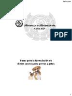 Bases Para La Formulación de Dietas Caseras Para Perros y Gatos - 2014 (1)