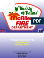 Presenter-McAllen Area-Emergency Response Capabilities/Resources and Sister City Contingency Plan