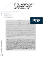 Estudio de La Oxidacion de Telurito de Sodio en Medio Alcalino