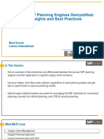 SAP APO SNP Planning Engines Demystified_ Real-World Insights and Best Practices