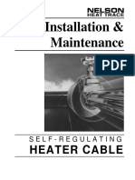 Self Regulating Cable Manual Installation Maintenance Nelson