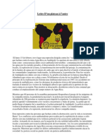 Ensemble des Lettres lues au Congrès National d'Argentine