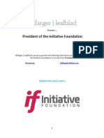 Executive Position Profile - Initiative Foundation - President
