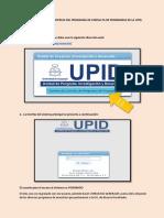Manejo Básico de La Interfaz Del Programa de Consulta de Programas de La UPID
