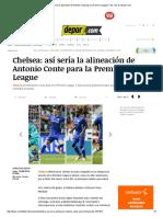 Chelsea_ Así Sería La Alineación de Antonio Conte Para La Premier League _ Foto 1 de 12 _ Depor