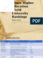 Times Higher Education World University Rankings - Version 2