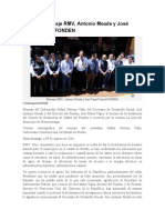 09.08.16 Mensaje RMV, Antonio Meade y José Tapia Comité FONDEN
