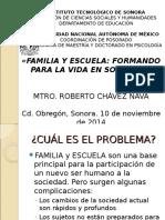 Presentacion Familia y Escuela Para Sociedad