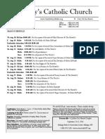 Bulletin  for August 18-31, 2016