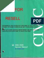 1996 2000 Honda Civic Service Manual