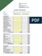 Copy of Expense Analysis Worksheet
