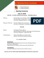 opening program for dii -8-10-16 1
