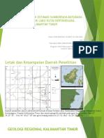 Kondisi Geologi Dan Estimasi Sumberdaya Batubara