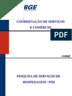 IBGE - Pesquisa de Servixos de Hospedagem - Apresentaxo
