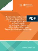 Guatemala Herramienta Incorporación Género ACNUDH