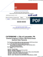 Lancaster City Water Payment on Website of 100 ILLEGAL BALANCE OF $269 August 10, 2016 EVIDENCE OF CONSPIRACY TO CONDEM PROPERTY - August 10, 2016