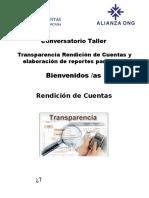 Rendición de Cuentas, Transparencia y Control Social.
